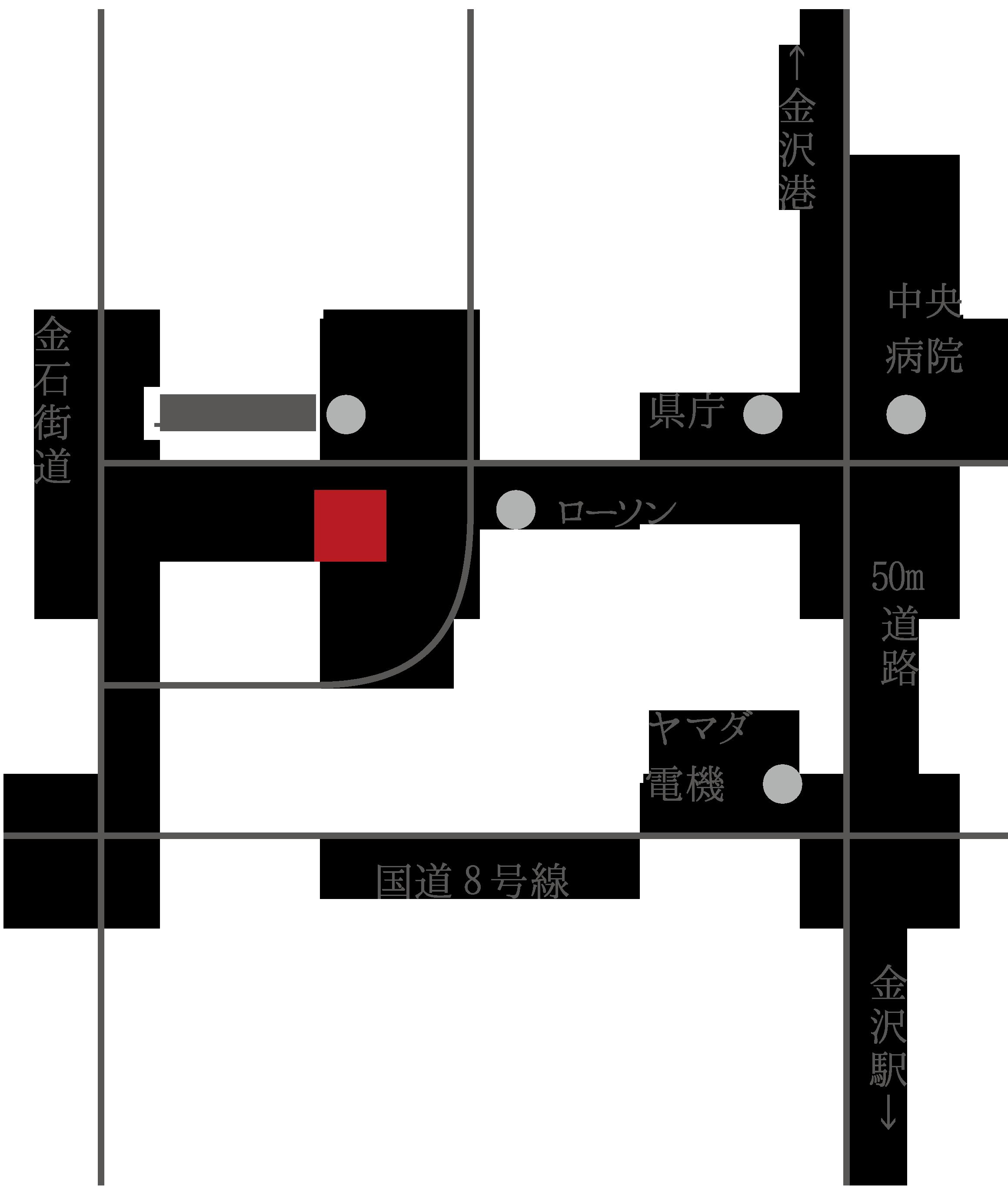 金澤本店の地図